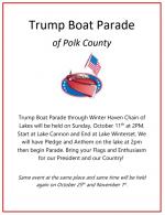 Trump Boat Parade – October 25 & November 1